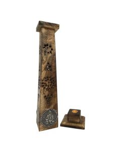 Tower Incense Burner with Buddha