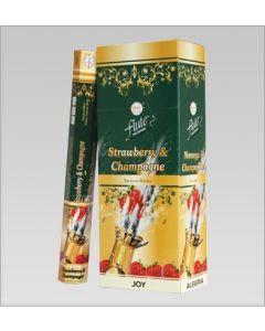 Flute Strawberry & Champagne Hexa Incense Stick
