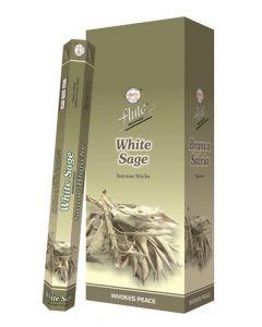 Flute White Sage Leaf Hexa