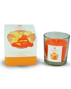 Green Tree Happiness Glass Fragrance Candle 125 Grams