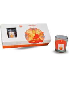 Green Tree Happiness glass votive 3 pc candle giftset