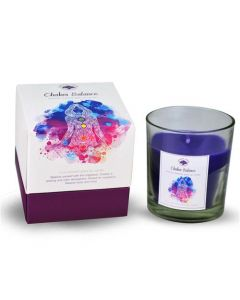 Green Tree Chakra Balance Glass Fragrance Candle 125 Grams
