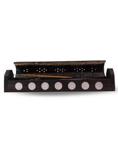 Coffin Box Incense Holder with Flower of Life