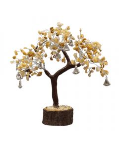 Árbol de gemas con Buda riendo 300 cuentas Reflectante