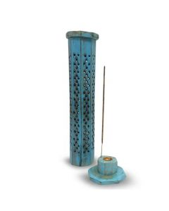 Turquoise Tower Incense Burner 30cm