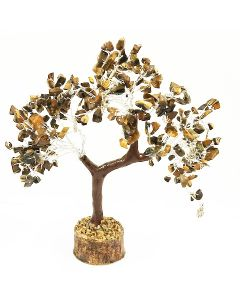 Gem Tree with Reiki Hand 160 Beads - Confidential Tiger Eye
