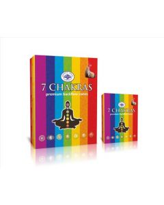 Green Tree 7 Chakras Backflow Incense Cones (pack of 12)