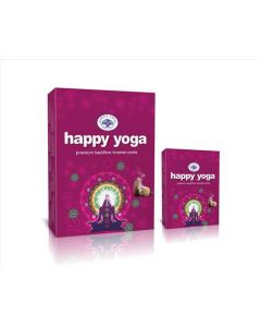 Green Tree Happy Yoga Backflow Incense Cones (pack of 12)