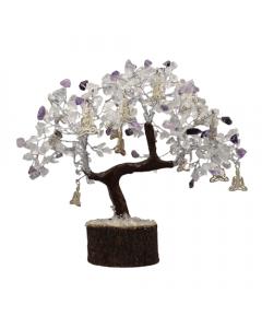 Árbol de gemas con Buda de yoga 300 cuentas cristal y amatista
