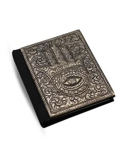 Journal With Metal Hand of Fatima 7x10cm