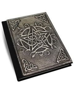 Leather Journal With Metal Pentagram 10x15cm