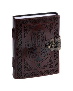 Leather Journal Hand with one lock