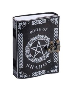 Leather Journal Pentagram Book of Shadow with one lock