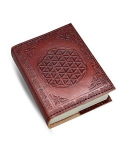 Leather Embossed Flower Of Life   7x10cm