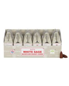Satya White Sage Backflow Dhoop Cones