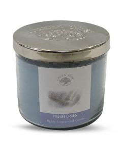 Green Tree Fresh Linen Highly Fragranced Candle 400 Grams
