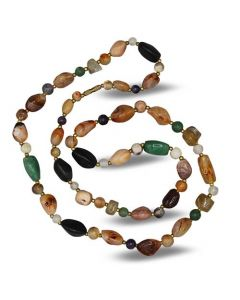 Tumbled Stones Necklace Mixed Agate