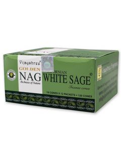 Golden Nag White Sage Dhoop Cones