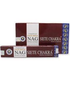 Golden Nag 7 Chakra Incense 15 grams