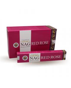 Golden Nag Red Rose Incense 15 grams