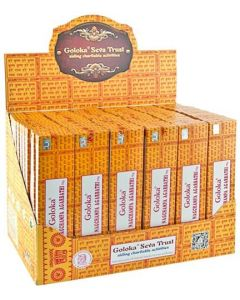 Goloka Nag Champa Display Set - 72 Packs