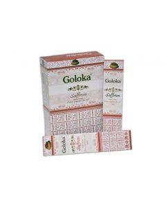 Goloka Saffron Incense 15 grams
