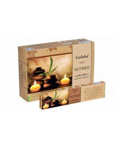 Goloka Aromatherapy Nutmeg Incense 15 grams