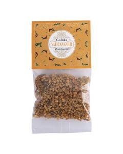 Goloka Resin Incense Vatican Gold  - 30 grams 12 packs