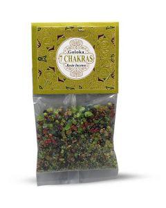 Goloka Resin Incense 7 Chakra - 30 grams 12 packs