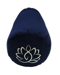 Yoga Bolster Cotton Canvas - Lotus Navy Blue