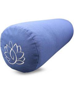 Yoga Bolster Cotton Twill - Lotus Light Blue