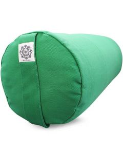 Yoga Bolster Dyed Cotton Twill - Plain Green