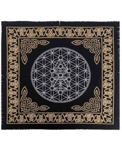 "Cotton Altar cloth 24""x24""  Flower of Life Altar Cloth"