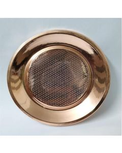 BRASS LID WITH NET COPPER FINISH 11.5cm