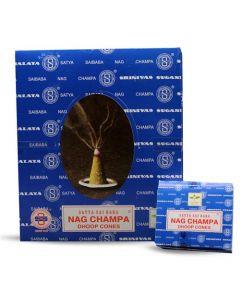 Satya Nag Champa Cones 12 small boxes