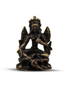 Mini Brass Tara Boeddha 3,5 cm (12 stuks)
