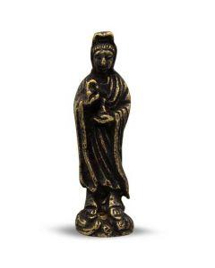 Mini Brass Kuan Yin Statue 4,5 cm (12 stuks)