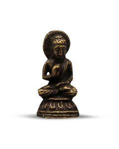Mini Brass vergadering Boeddhabeeld 3,5 cm (12 stuks)