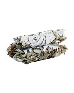 White Sage & Black Sage Smudge Stick 10cm (price per pc)