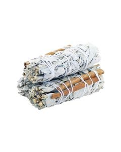 White Sage & CINNAMON 10cms (price per pc)