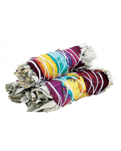 7 Chakra White Sage Smudge Stick 10cm (price per pc)