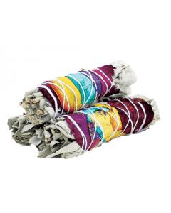 7 Chakra Witte Salie Smudge Stick 10cm (prijs per stk.)