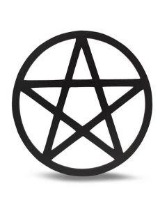 Pentagrama De Cuadrícula De Madera 20cm