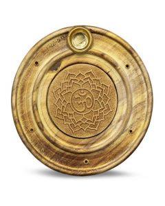 Wooden Incense Holder Crown Chakra 10 cm