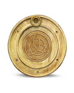 Porta Incienso de Madera Pentáculo 10 cm