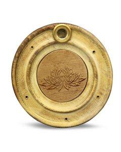 Porta incienso de madera Lotus 10 cm