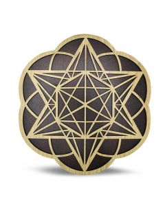 Wooden Grid Seed of Life & Metatron 25cm Set of 2