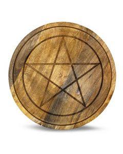 Mango Wood Crystal Grid lade Pentagram 30 cm