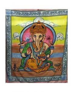 Cotton Tapestry Painted Ganesh 210x240cms