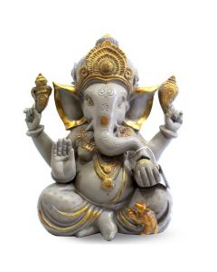 """Ganesh W/ Out Base in Chcolate Look (Sand Stone Finish) 12"""""""